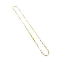 18k Gold over 925 Sterling Silver Vermeil 3mm Twisted Chain Necklace Secure Lobster Clasp