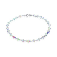 Sterling Silver Crystal Necklace Made with Swarovski Elements #SCNK110