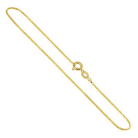 14k Gold over 925 Sterling Silver Vermeil 1mm Box Chain Necklace