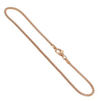 14k Rose Gold over .925 Sterling Silver Vermeil 1.6mm Popcorn Chain Necklace