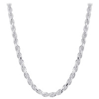 Italian 925 Sterling Silver 5mm wide Faceted Cut Rope Chain Necklace