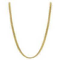 Gold Plated 925 Sterling Silver Vermeil 3mm Curb/Cuban Chain Necklace 18 inch - 30 inch