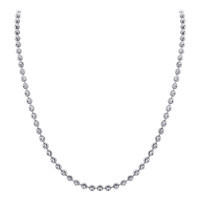 925 Sterling Silver Rhodium plated Moon Design 3mm Chain Necklace 18 inch- 30 inch