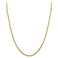 Gold Plated 925 Sterling Silver Vermeil 2mm Curb/Cuban Chain Necklace 18 inch - 30 inch