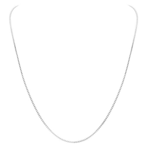 925 Sterling Silver 1mm Sturdy Box Link Chain New Necklace 14 inch - 30 inch