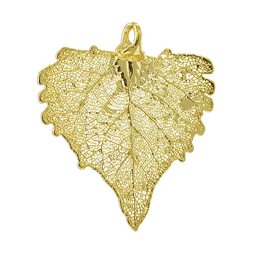 24k yellow gold plated over real cottonwood leaf pendant lgp007 24k yellow gold plated over real cottonwood leaf pendant aloadofball Choice Image