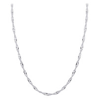 Italian 925 Sterling Silver Winding 3mm Singapore Chain Necklace