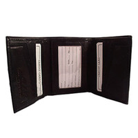 "Mens Leather Cowhide TriFold 10 Credit Card Slots ID Holder 4"" x 3.25"" Wallet Available in Different #MW1855"