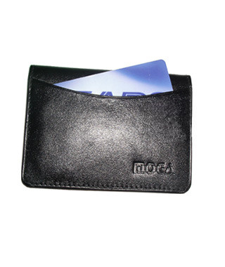 Genuine New Leather Credit Card Holder ID Window 2.75 x 4 inch Tan Wallet