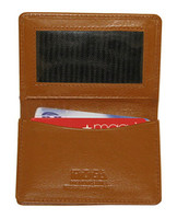 "Genuine New Leather Credit Card Holder ID Window 2.75"" x 4"" Tan Wallet #MW30070"