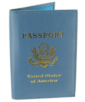 Leather Cover Passport Holder Travel Wallet with Logo #MW30151LOGO