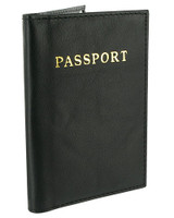 Leather Cover Passport Holder Travel Wallet