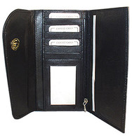 New Genuine Cowhide Leather Checkbook Wallet #MW302575