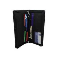 Travel Passport Boarding Pass Ticket Black Wallet #MW30563