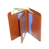 New Genuine Leather Handmade Credit Card Holder Tan Wallet #MW3090074