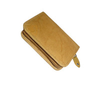 New Leather Business Credit Card Holder Zipper Wallet Available in Different Colors