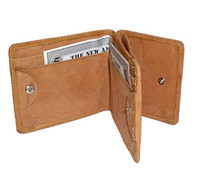 Mens Genuine Leather Money & Credit Card Holder Wallet