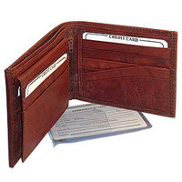 Mens BiFold Flip ID Credit Card Holder Wallet