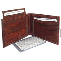 Mens BiFold Pull-out Credit Card Holder Wallet