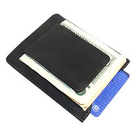 Magnetic Money Clip Leather Card Holder
