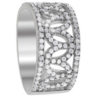 925 Sterling Silver Round Cubic Zirconia Ring Size 7