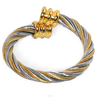 Twisted Wire Two Tone Magnetic Band Fits Size 7 and Above