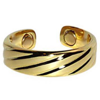 Gold Plated Magnetic Band Fits Size 7 and Above  #JRM133