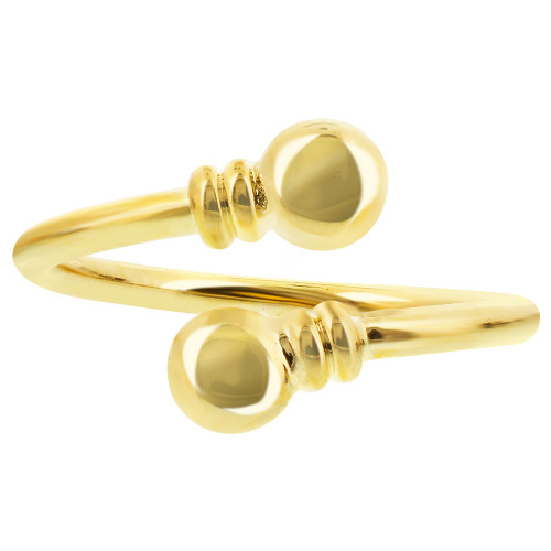 Gold Plated Spiral Magnetic Band Fits Size 7 & up
