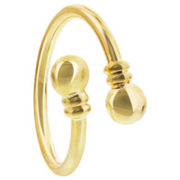 Gold Plated Spiral Magnetic Band Fits Size 7 & up #JRM225