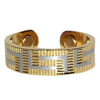 Two Tone Striped Magnetic Band Fits Size 7 & Above #JRM230