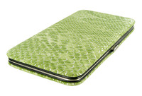 Fashionable and Functional Slim Metallic Verde Wallet