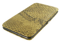 Fashionable and Functional Slim Metallic Golden Wallet #WPSF8