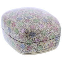 Rustic Hand with Painted Foliage Design Dome Jewelry Box #GX003