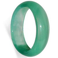 Green Agate Gemstone 5mm Band #kjr005