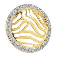 Gold over Sterling Silver Round Vermeil Pendant #VMPN036