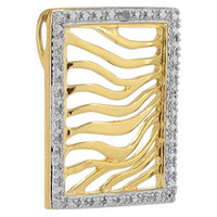 Gold over 925 Sterling Silver Rectangle Vermeil Pendant