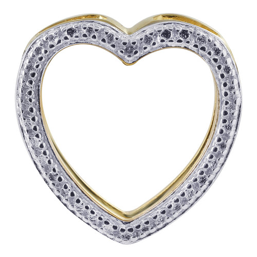 Gold over 925 Sterling Silver Open Heart Vermeil Pendant