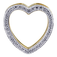Gold over Sterling Silver Heart Vermeil Pendant