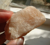 Azeztulite with Morganite rough (1239191397)