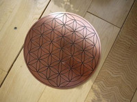 Copper Flower of Life disc (1395939526)
