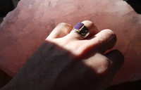 Sugilite silver ring (112316)
