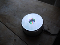 Round multicoloured LED lamp (112632)