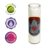 Heart Angel of Love candle in Glass Holder (112988)