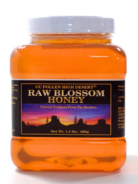 Raw Blossom Honey 1.5 lb Jar