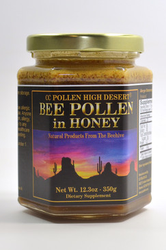 Raw Honey with Bee Pollen 12.3 oz