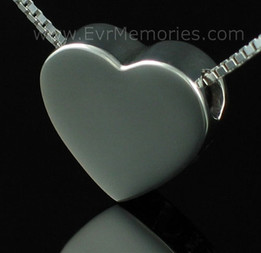 2 Person Sterling Silver Sliding Heart Cremation Keepsake for Couples