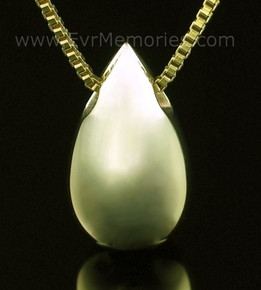 14K Gold Teardrop Funeral Jewelry