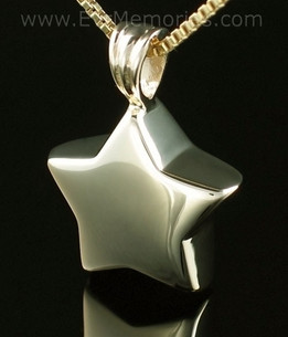 14K Gold Small Star Jewelry Urn