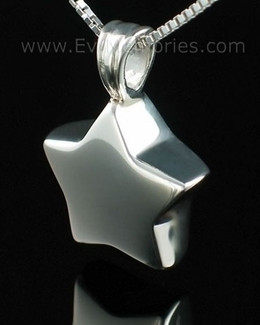 Sterling Silver Small Star Cremation Keepsake