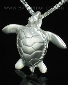 Sterling Silver Sea Turtle Cremation Keepsake